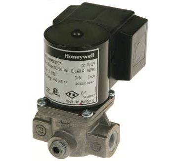 "Honeywell V8295A1024 Solenoid Valve 24V Normally Closed 2psi 3/4"" NPT"