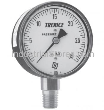 Trerice 760B2502Light 685 2.5 Gauge 0/5 psi 1/4 Lo