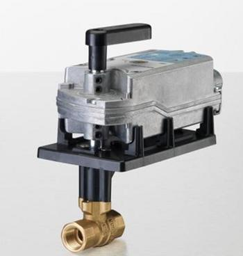 "Siemens Building Technology 171F-10327 Two-Way Ball Valve Assembly 2"" 40Cv 200 PSI Valve Body Normally Open with Spring Return Actuator"