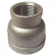 """BackStop 12-SS220804 Stainless Steel Bell Reducer 1/2"""" FIP x 1/4"""" FIP (Qty of 144)"""