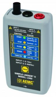 AEMC 2126.35 L562 Datalogger Ac 2 Channel W/Software