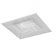 """Titus PAS-FR30612X12-165 Fire Rated Ceiling Diffuser 12"""" x 12"""" with 6"""" Inlet"""