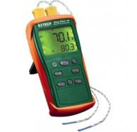 Extech EA10 EasyView Type K Dual Input Thermometer with Dual Readings