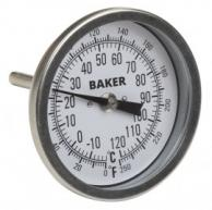 Baker T30025-550 Bimetal Thermometer 50 to 550F (0 to 260C)