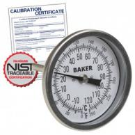 Baker T30025-550 Bimetal Thermometer 50 to 550F (0 to 260C) with NIST Traceable Certificate