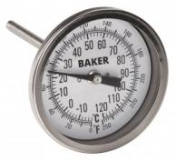 Baker T3004-250 Bimetal Thermometer 0 to 250F (-20 to 120C)
