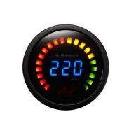 Air Zenith 220W LED Digital Pressure Gauge Black 220psi 2-1/6