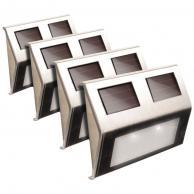 MAXSA INNOVATIONS 47334-SS Stainless Steel Solar Deck Lights, 4 pk